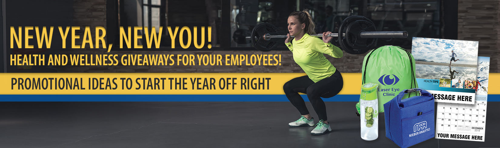 New Year, new you! Health and wellness giveaways for your employees!